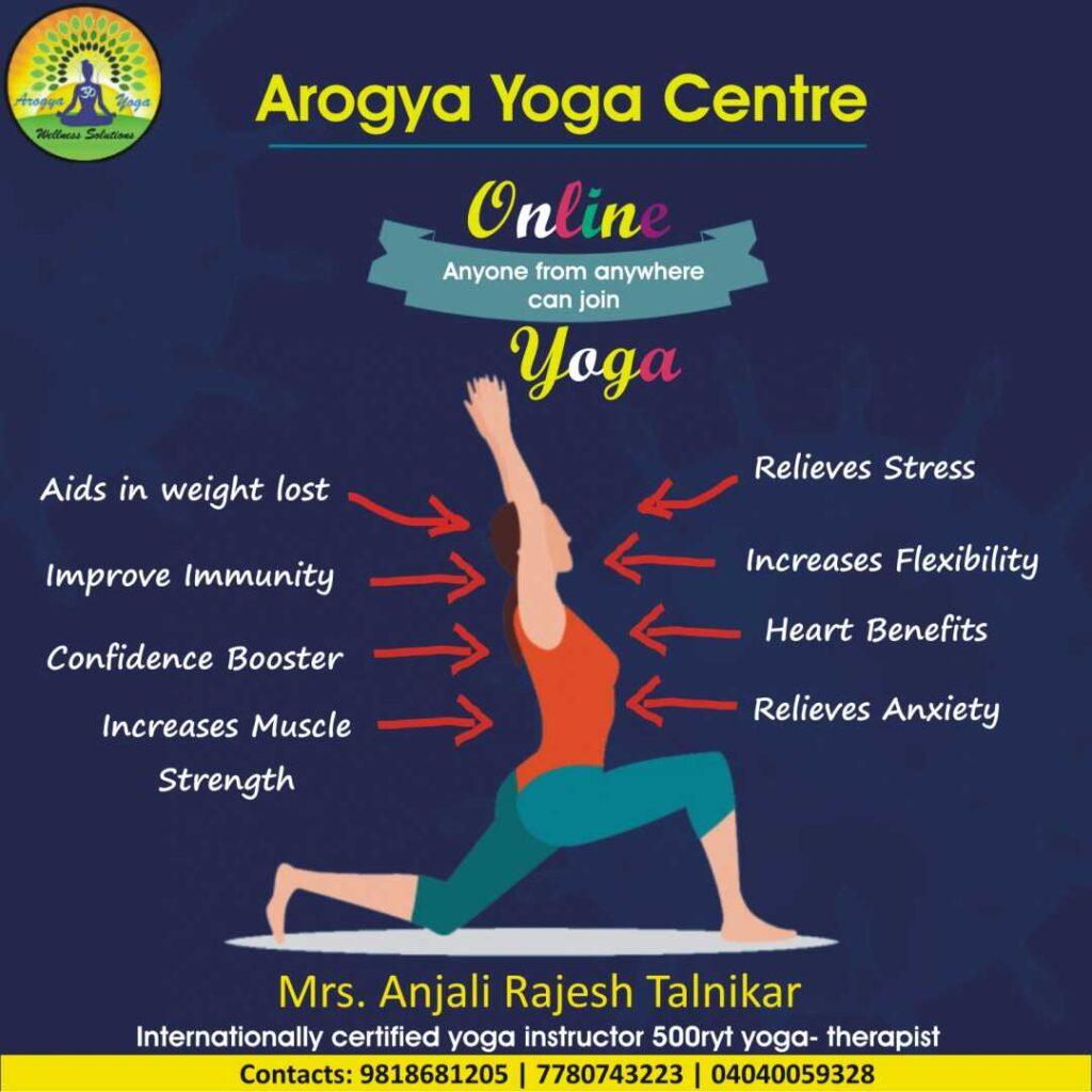 Arogya yoga centre Online Yoga